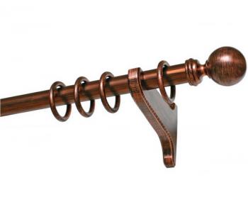 Деревянный карниз Винтаж (коричневый/медь)
